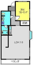 ハピネス飯田Ⅱ1階Fの間取り画像