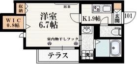 仮称 飛田給Ⅰマンション1階Fの間取り画像