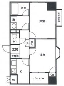 石川町駅 徒歩14分8階Fの間取り画像