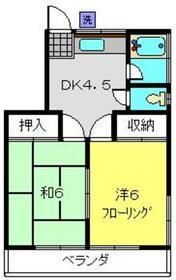 サン・ファミーK2階Fの間取り画像