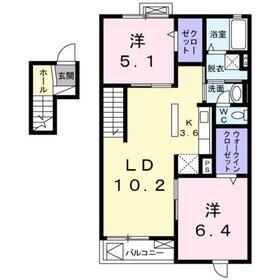 門沢橋駅 徒歩18分4階Fの間取り画像