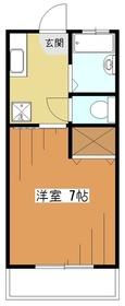 コーポ・アザレア2階Fの間取り画像