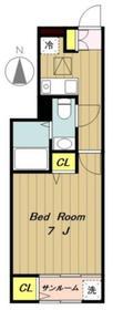 マロンII1階Fの間取り画像