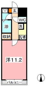 総社駅前ビル6階Fの間取り画像