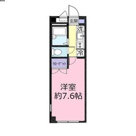 アンプルールフェール 上福岡Ⅱ1階Fの間取り画像