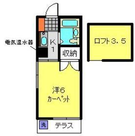 サン二俣ハイツ1階Fの間取り画像