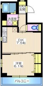 セードル横浜6階Fの間取り画像