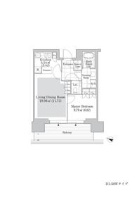 六本木グランドタワーレジデンス9階Fの間取り画像