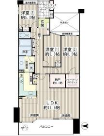 アンジュの丘横濱常盤台6階Fの間取り画像