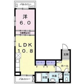 グレースコート2階Fの間取り画像
