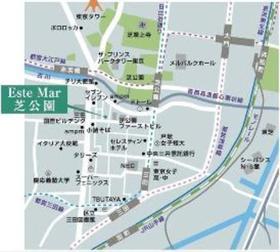赤羽橋駅 徒歩5分案内図