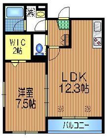経堂駅 徒歩8分2階Fの間取り画像