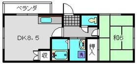 レジデンスサカエ2階Fの間取り画像
