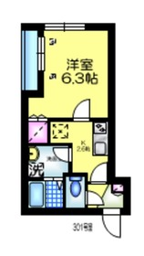 サンフォレスト青井3階Fの間取り画像