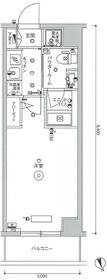 スカイコート世田谷等々力WEST6階Fの間取り画像