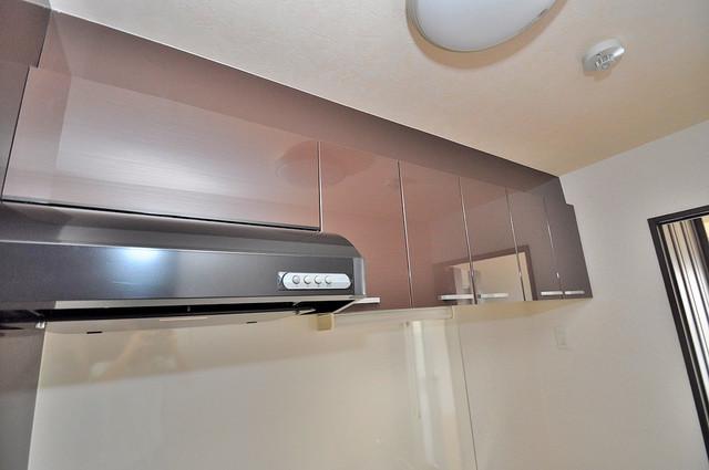 オランジュ上小阪 キッチン棚も付いていて食器収納も困りませんね。