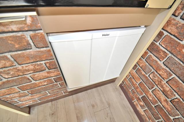 リビエール今里 ミニ冷蔵庫付いてます。単身の方には十分な大きさです。