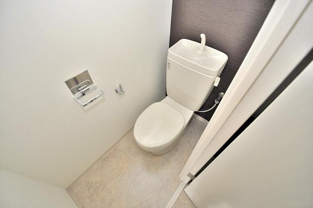ルミエール・フジ 清潔感のある爽やかなトイレ。誰もがリラックスできる空間です。