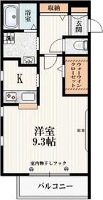 ヴェルクール武蔵野3階Fの間取り画像