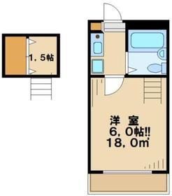 トップヒルゲート2階Fの間取り画像