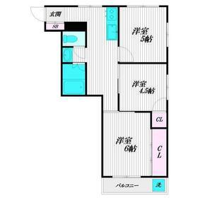 ニュー天沼マンション3階Fの間取り画像