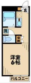 レオパレスシャルマン2階Fの間取り画像