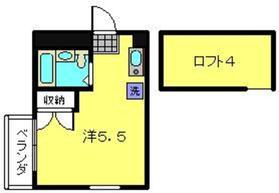 アップルハウス白楽22階Fの間取り画像