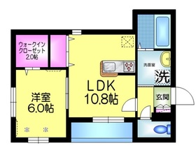 グランディ Ichikawa2階Fの間取り画像