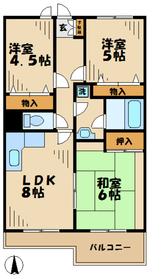 ハロッズプラザ5階Fの間取り画像