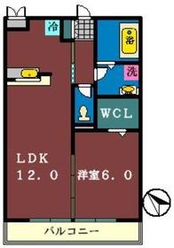 ベルウッド六番館3階Fの間取り画像