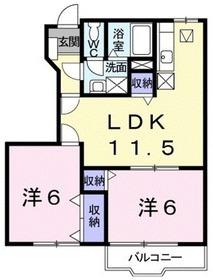 マロンA1階Fの間取り画像