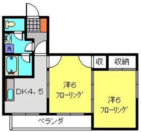 オークテラス2階Fの間取り画像