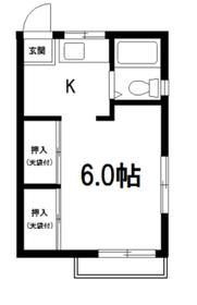 コーポ徳山2階Fの間取り画像