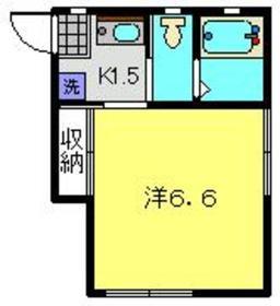 ユウハイツ1階Fの間取り画像