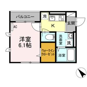 キャメロットハウス2階Fの間取り画像