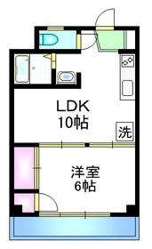 立川ハイツ3階Fの間取り画像