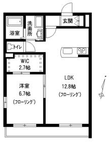 ヤマウロコEAST2階Fの間取り画像