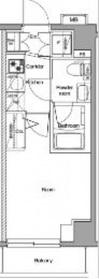 プレミアムキューブ横浜DEUX7階Fの間取り画像