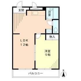 ピエール武蔵小杉2階Fの間取り画像