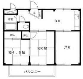 長塚ハイツⅠ1階Fの間取り画像