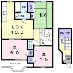 コートドールA2階Fの間取り画像