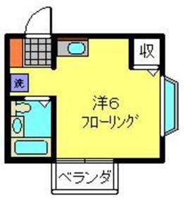 横浜駅 徒歩22分2階Fの間取り画像