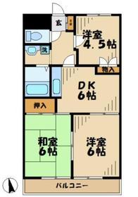 ベルクレールタカムラ34階Fの間取り画像