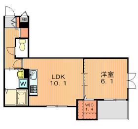 カリラ駒沢2階Fの間取り画像