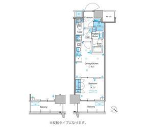 パークアクシス豊洲キャナル12階Fの間取り画像