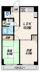 アクセルII3階Fの間取り画像