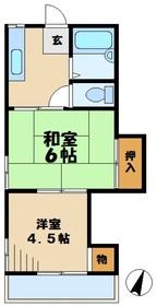 ハイツ富沢2階Fの間取り画像