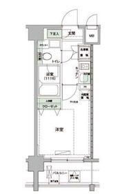 ハーモニーレジデンス羽田WEST6階Fの間取り画像