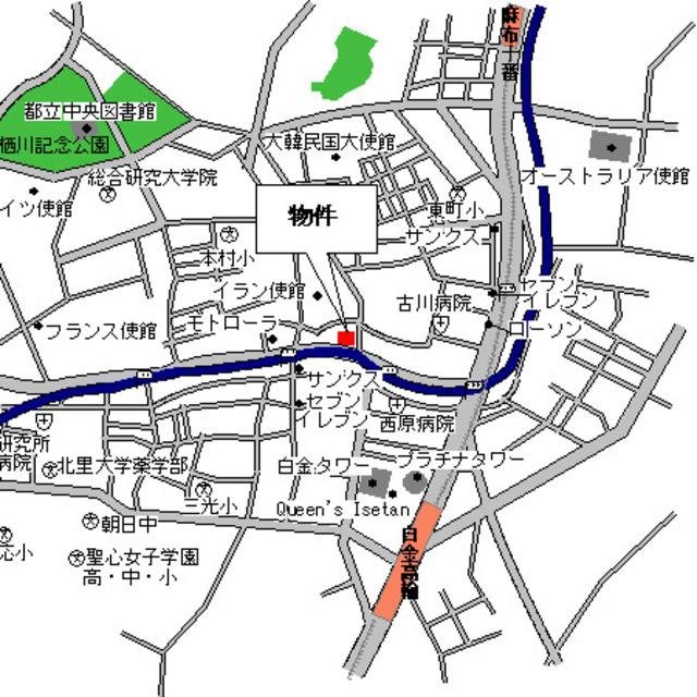 ルフォンプログレ南麻布案内図