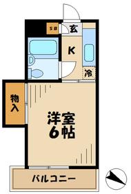 テラスK&K ケーアンドケー2階Fの間取り画像